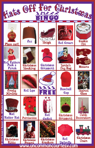Hats Off for Christmas Bingo Game