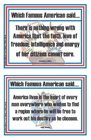 Patriotic Quotations Flashcards
