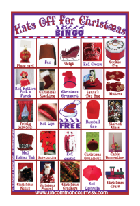 Hats Off for Christmas Bingo