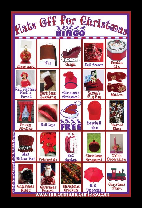 Hats Off for Christmas Bingo